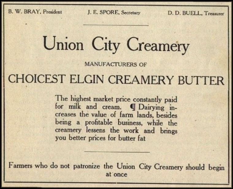 Creamery Advertisement