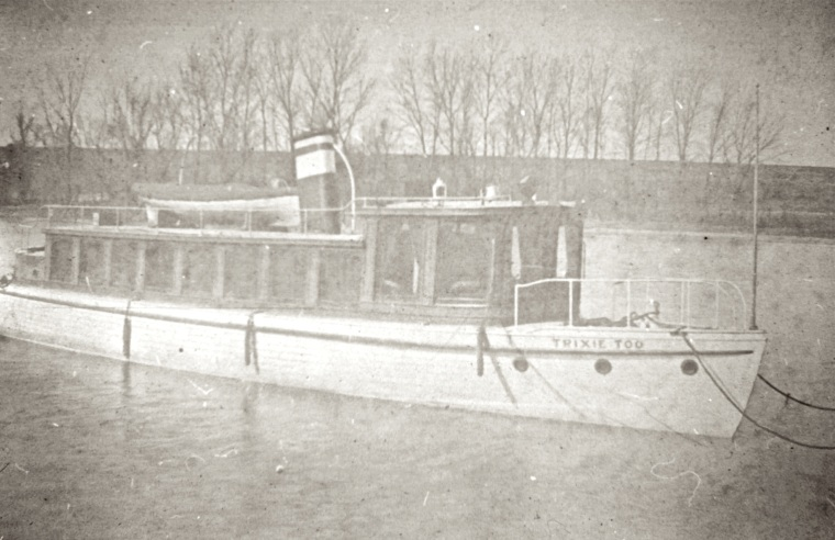 Trixie Too pleasure boat by Ed Sullivan and executive of Cement Co. c