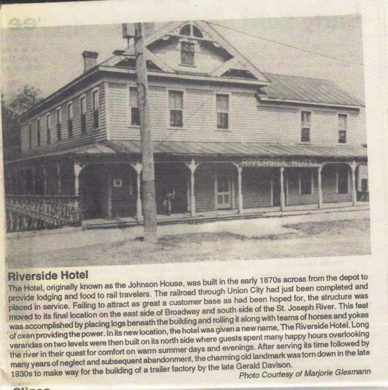 Riverside Hotel Article