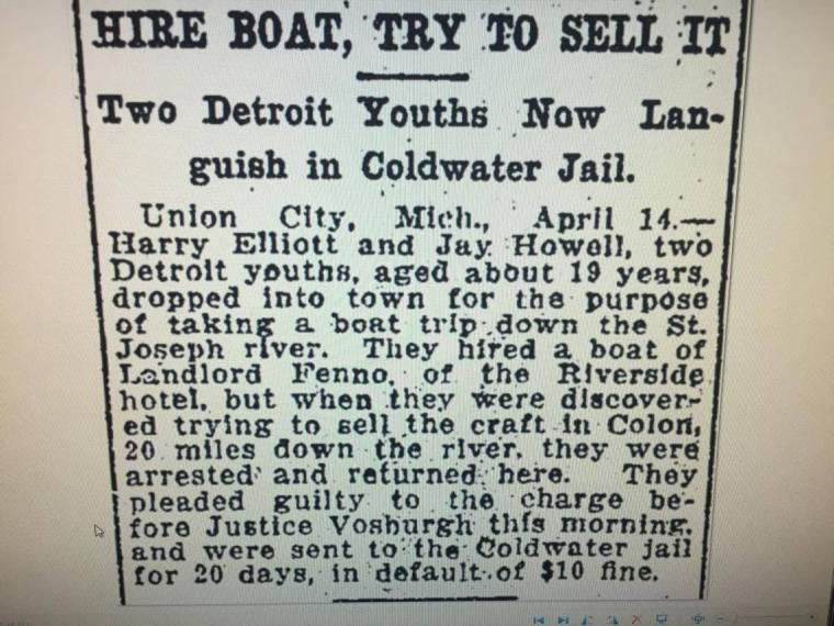 1909 Detroit Free Press