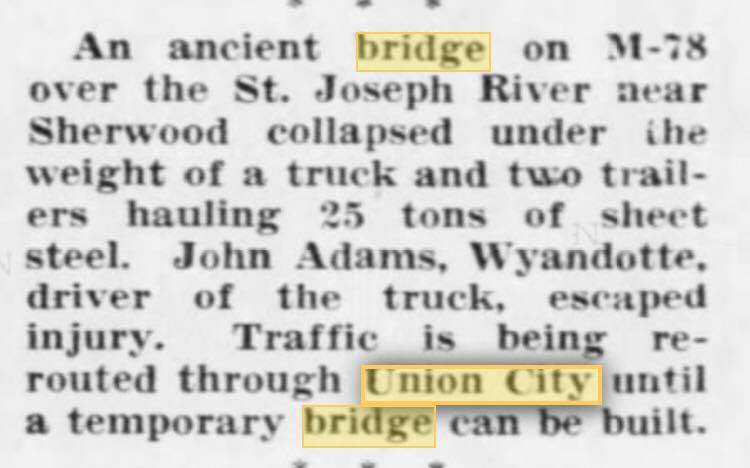 July 1960 article 78 Bridge